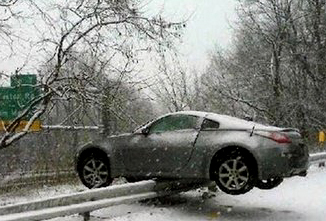 350Z taking a short cut to work!