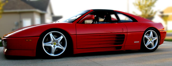 Lowered Ferrari 348 with Delta Vee suspension