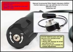 Hydraulic corner weight adjuster tool.